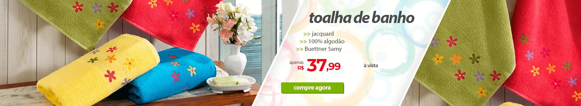 Toalha de Banho 100% Algodão Buettner Samy   Apenas R$37,99   Loja Buettner   Compre Agora!