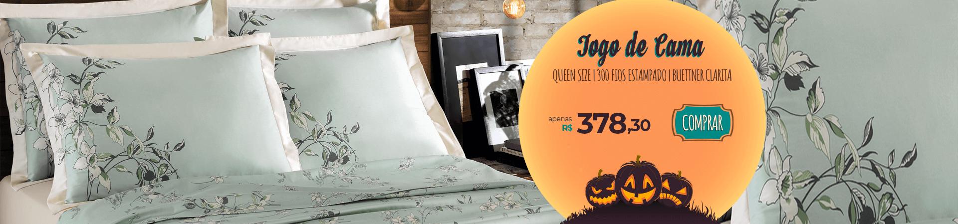 Jogo de Cama 300 fios Queen Size Buettner Clarita | Apenas R$378,30 | Halloween Loja Buettner | Compre Agora!