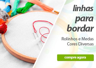 Linhas para Bordar - Rolinhos e medas, cores diversas | Loja Buettner | Compre Agora!