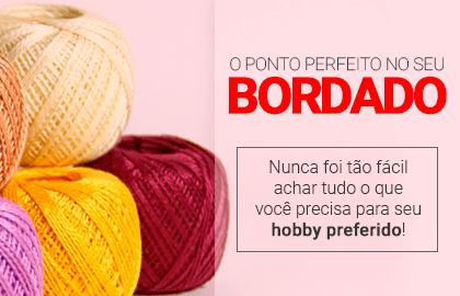 O ponto perfeito no seu BORDADO! Nunca foi tão fácil achar tudo o que você precisa para seu hobby preferido! | Loja Buettner | Confira!