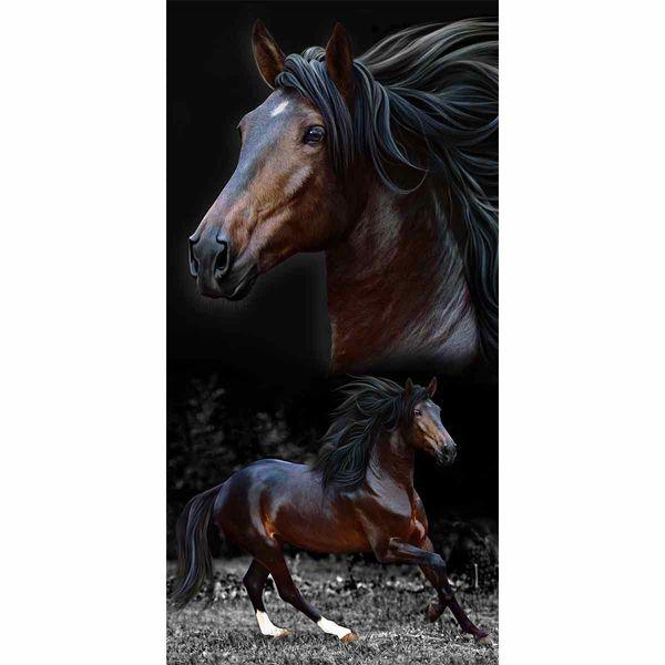 ac2f054050b3 Toalha de Praia 100% Algodão 76x152cm Buettner Estampa Brow Horses -  lojabuettner