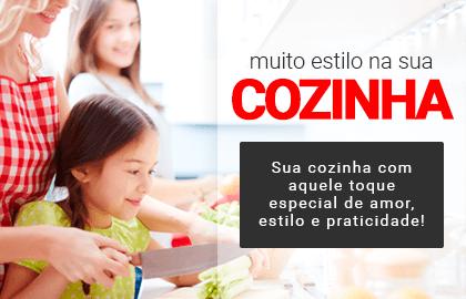 Muito estilo na sua COZINHA! Sua cozinha com aquele toque especial de amor, estilo e praticidade! >> Loja Buettner | Confira!