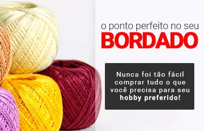O ponto perfeito no seu BORDADO! Nunca foi tão fácil achar tudo o que você precisa para seu hobby preferido! >> Loja Buettner | Confira!