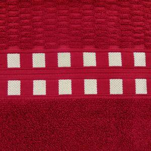 toalha-de-banho-em-algodao-70x140cm-buettner-donata-cor-chilli-com-barra-dourada-principal