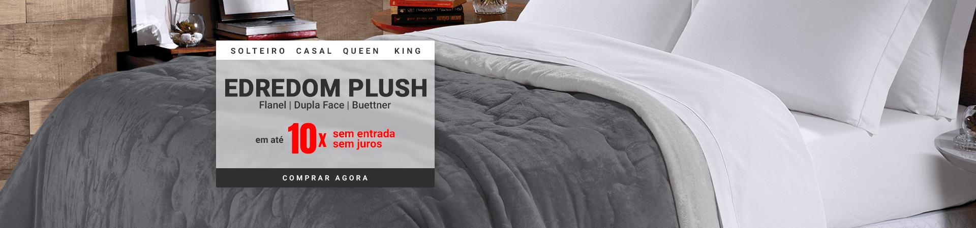 Edredom Plush Flanel Dupla Face Buettner - Solteiro, Casal, Queen e King >> Loja Buettner | Comprar Agora!