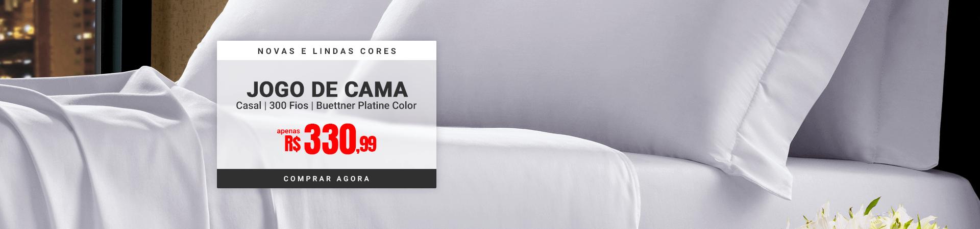 Jogo de Cama Casal 300 fios Buettner Platine Color >> Loja Buettner | Comprar Agora!