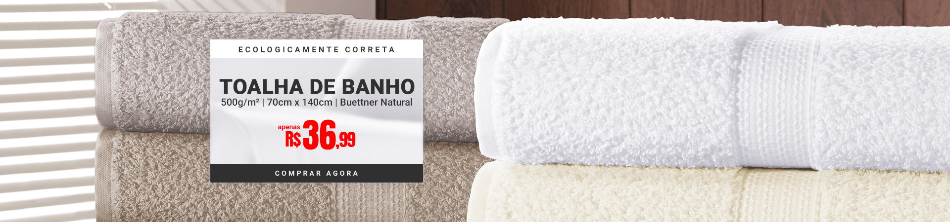 Toalha de Banho Buettner Natural >> Loja Buettner | Comprar Agora!