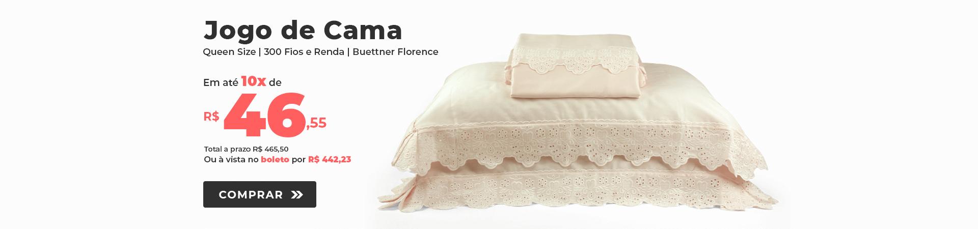 Jogo de Cama 300 fios com Renda Queen Size Buettner Florence >> Loja Buettner   Comprar Agora!