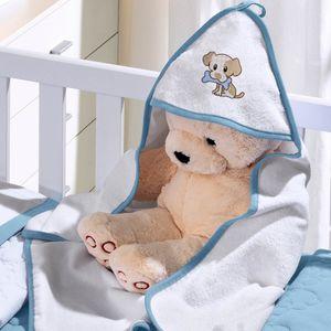 toalha-com-capuz-felpudo-para-bebe-bordada-com-vies-little-dog-azul-buettner-baby-vitrine