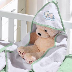 toalha-com-capuz-felpudo-para-bebe-bordada-com-vies-teddy-soninho-verde-buettner-baby-vitrine