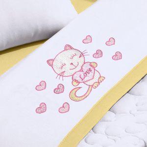 jogo-de-berco-3-pecas-em-malha-em-algodao-bordada-buettner-baby-kitty-love-amarelo-detalhe