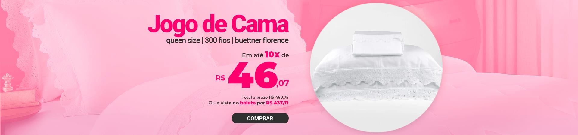 Jogo de Cama 300 fios com Renda - Queen Size - Buettner - Florence >> Loja Buetnner | Compre Agora!
