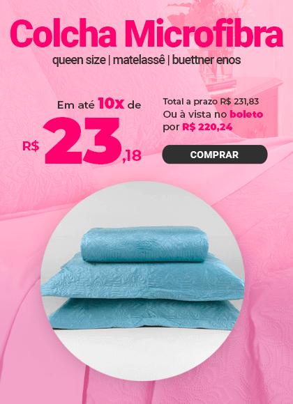 Colcha Microfibra Queen Size em Matelassê sem Costura com Dois Porta Travesseiros Buettner Enos >> Loja Buetnner | Compre Agora!