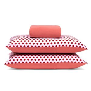jogo-de-lencol-casal-em-algodao-com-fronha-estampada-buettner-basic-poa-vermelho-goiaba-principal