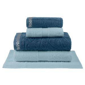 jogo-de-toalhas-5-pecas-em-algodao-500gr-bouton-persa-cor-azul-petroleo-e-azul-riviera-principal