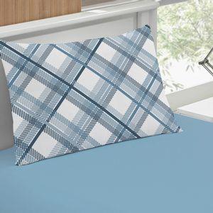 jogo-de-lencol-solteiro-em-algodao-com-fronha-estampada-buettner-basic-charles-azul-detalhe