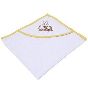 toalha-com-capuz-felpudo-para-bebe-bordada-com-vies-buettner-baby-amigos-amarelo-mel-principal