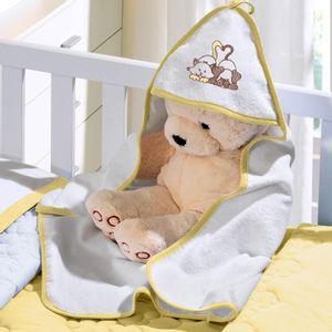 toalha-com-capuz-felpudo-para-bebe-bordada-com-vies-buettner-baby-amigos-amarelo-mel-vitrine