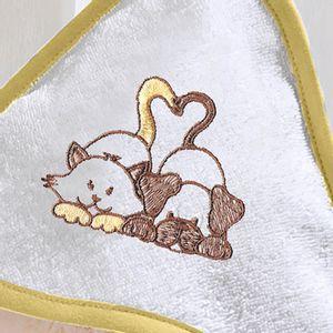 toalha-com-capuz-felpudo-para-bebe-bordada-com-vies-buettner-baby-amigos-amarelo-mel-detalhe