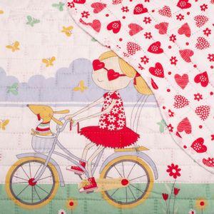 colcha-juvenil-solteiro-160x220cm-em-matelasse-com-porta-travesseiro-buettner-passeio-de-bike-detalhe