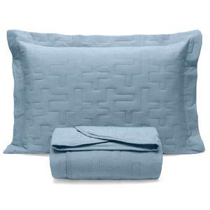colcha-matelasse-com-elastico-solteiro-duas-pecas-malha-em-algodao-buettner-basic-sleep-cor-azul-Jeans-principal