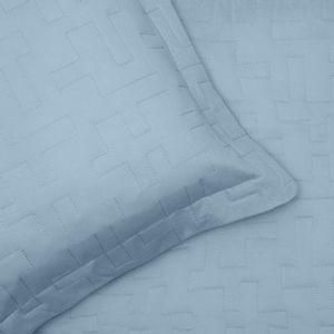 colcha-matelasse-com-elastico-solteiro-duas-pecas-malha-em-algodao-buettner-basic-sleep-cor-azul-Jeans-detalhe