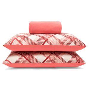 jogo-de-lencol-casal-em-algodao-com-fronha-estampada-buettner-basic-charles-vermelho-goiaba-principal